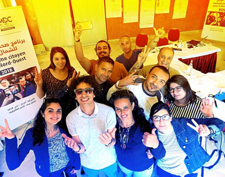 برنامج صحافة المواطنة للشمال الغربي: اختتام أشغال الدورات التدريبية حول صحافة القرب وصحافة الموبايل