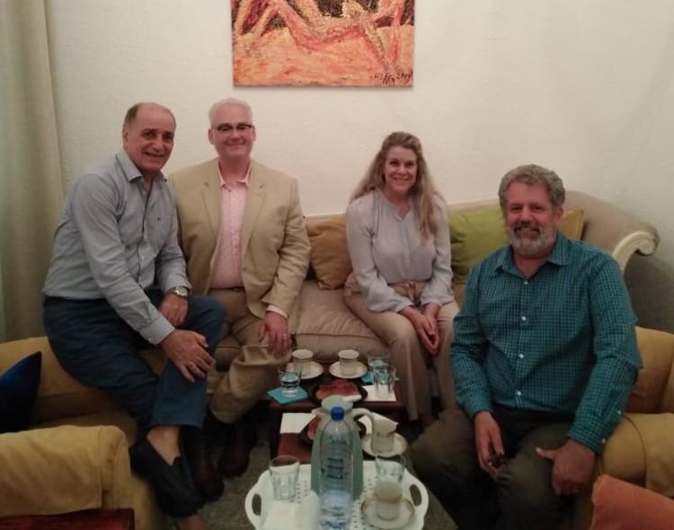 مجموعة من الأكادميين من الجامعة الأمريكية وسترن واشنطن في زيارة الى مركز تطوير الاعلام